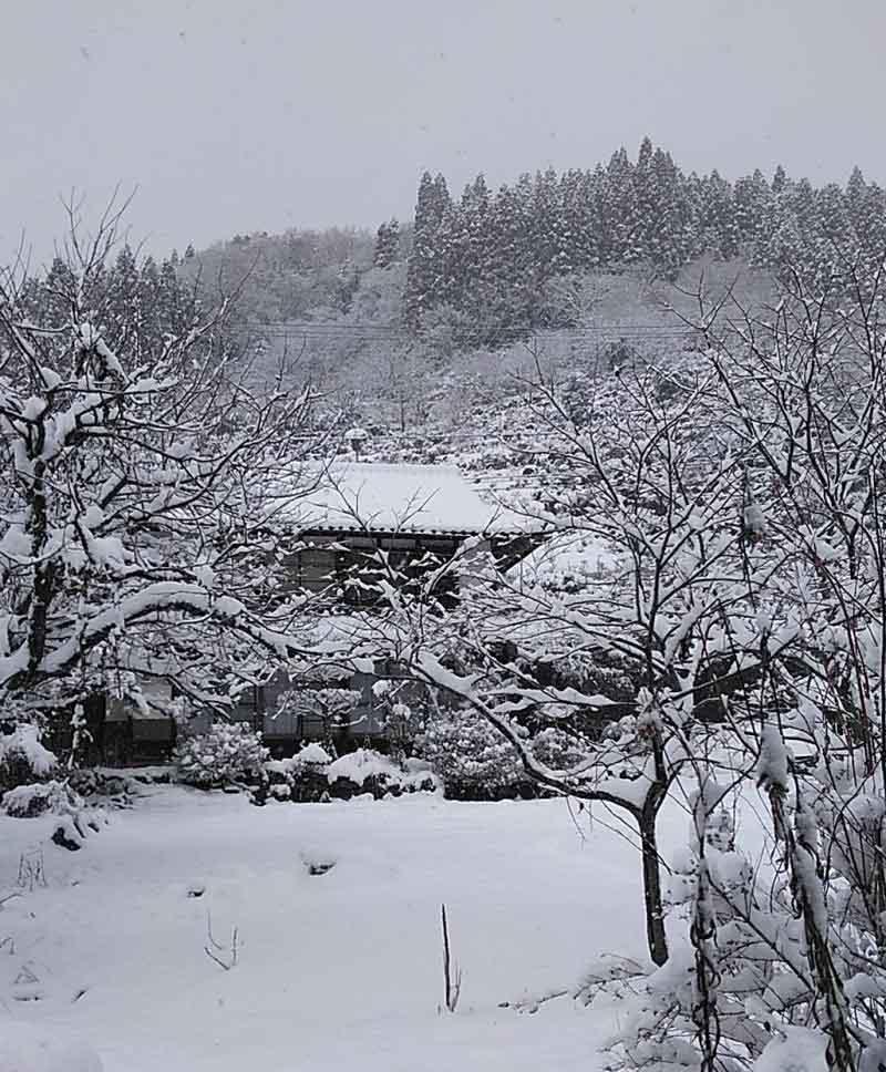 真冬の古民家