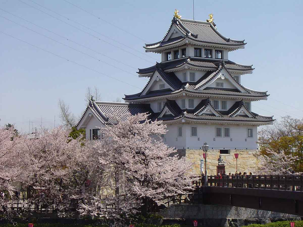 墨俣城・犀川堤の桜:大垣市